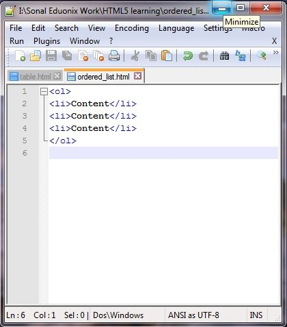 HTML Tables and Lists - Eduonix Blog