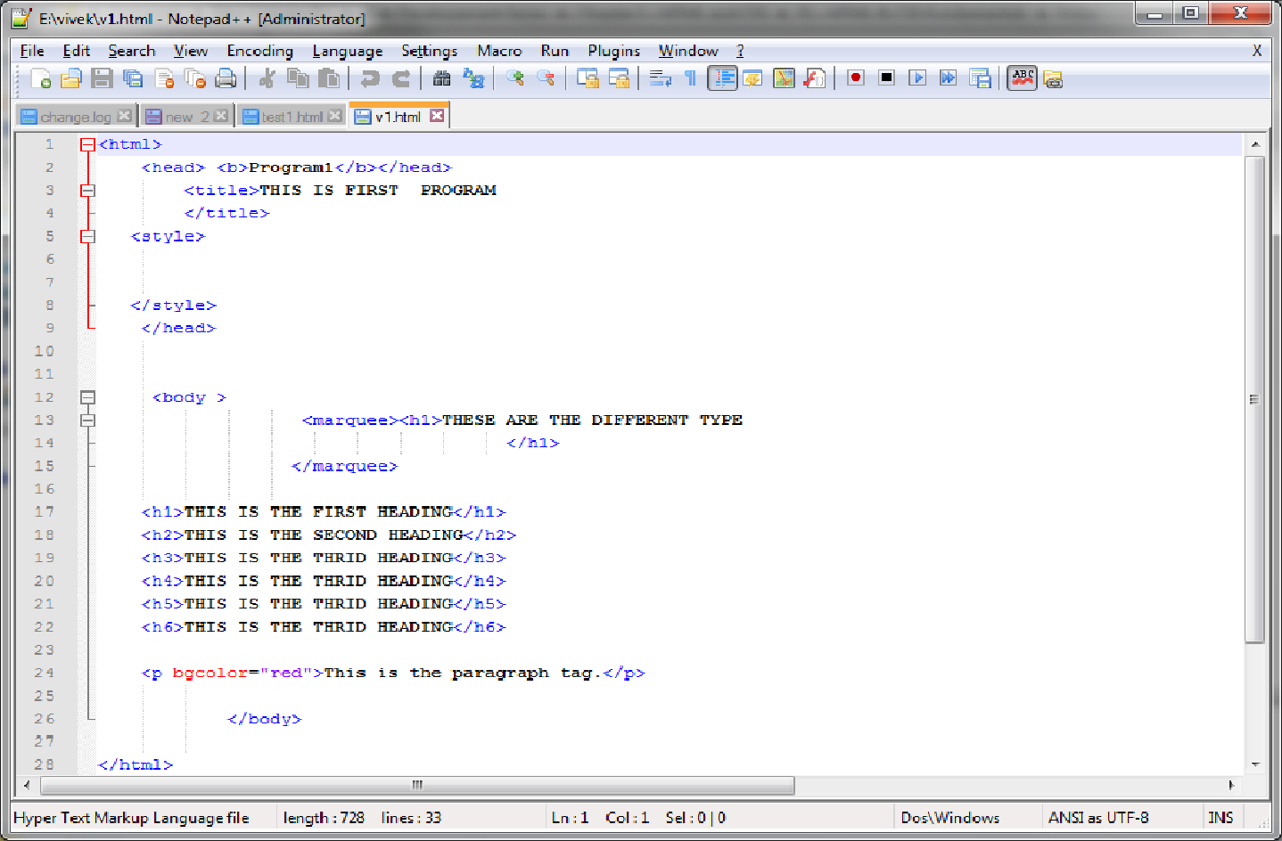 Installing Html Tools and creating a simple Html document - Eduonix Blog
