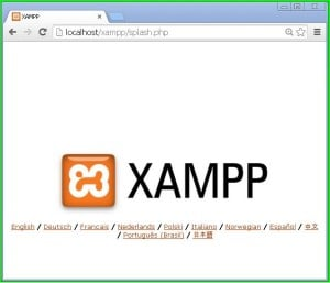 xampp_running_in_browser
