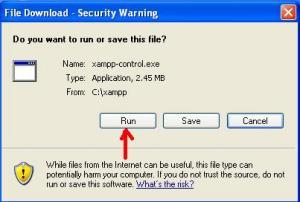 xampp_control_run_dialog