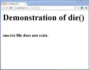 error_msg_using_die_function