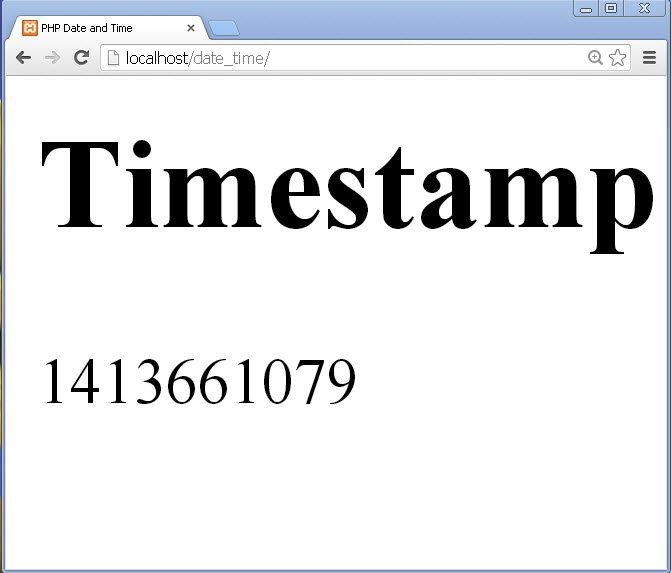 php get unix timestamp