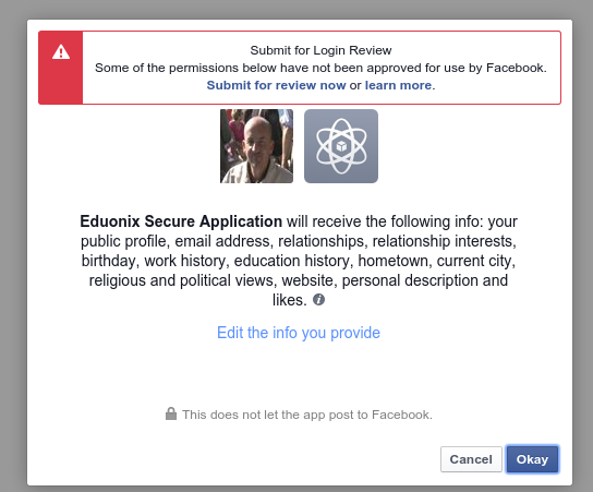FaceBook Grant endpoint