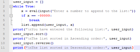 A script that accepts input numbers from the user, stores them in an array,