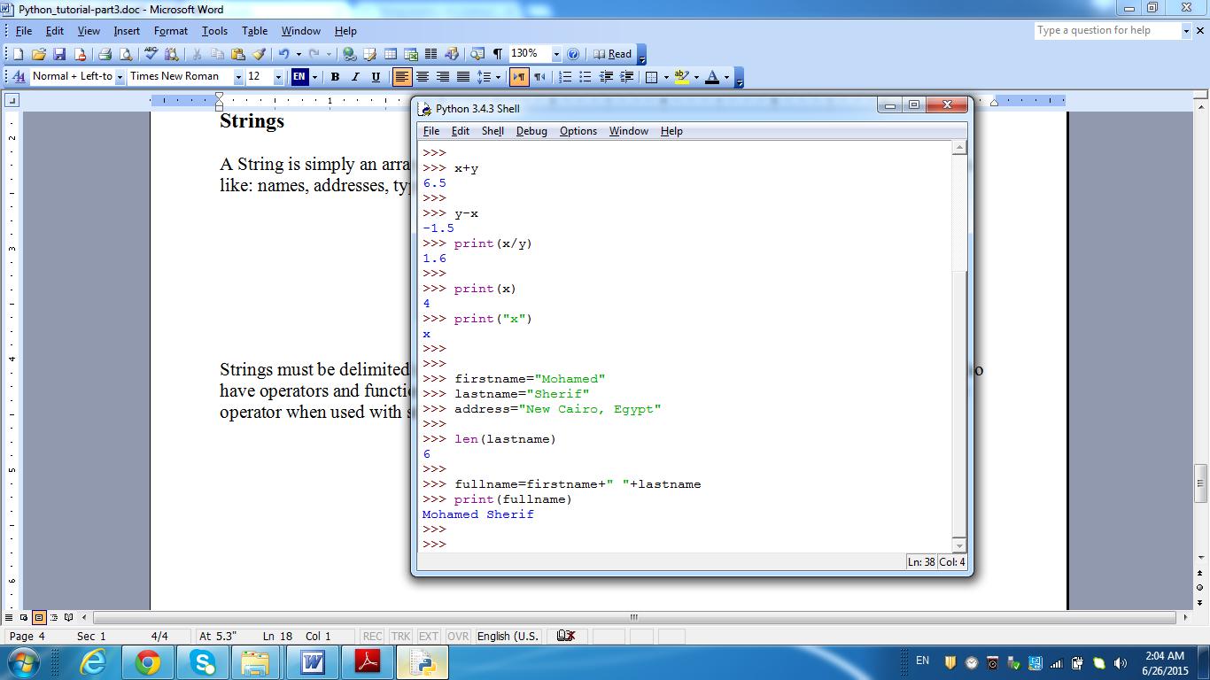 String Concatenation using the + operator