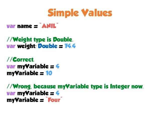 simple values