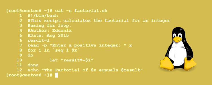Linux Shell Scripting (8) - Loops - For Loop