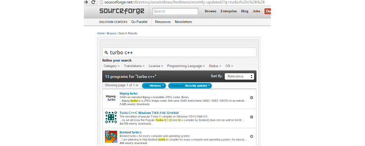 Installing Turbo C++