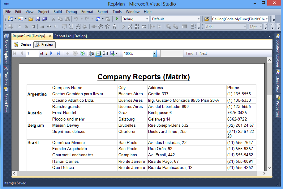 Tabular Reports (Tablix) 2