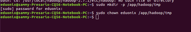 Sudo Chown Hadoop