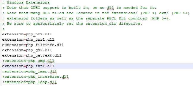 Enabling PHP extension