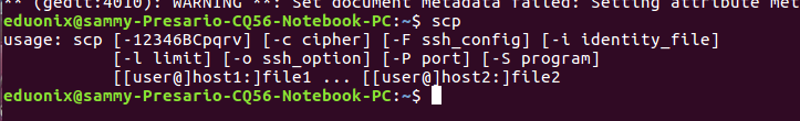 scp installed
