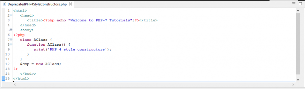 PHP 4 Style Constructors