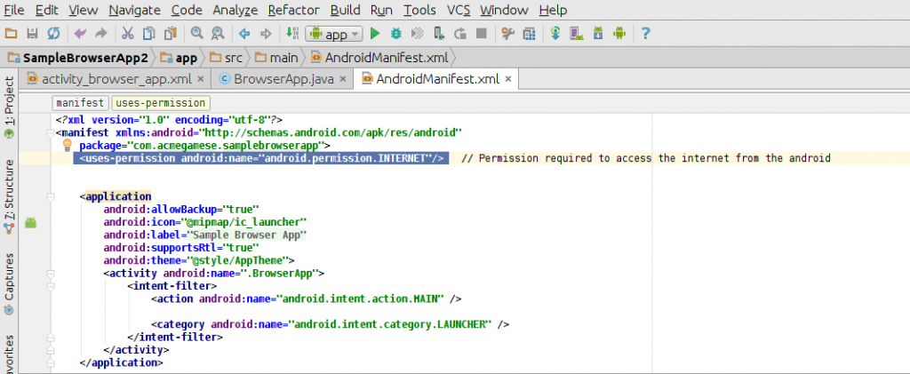 Learn To Create A Web Browser Application Using Android Studio