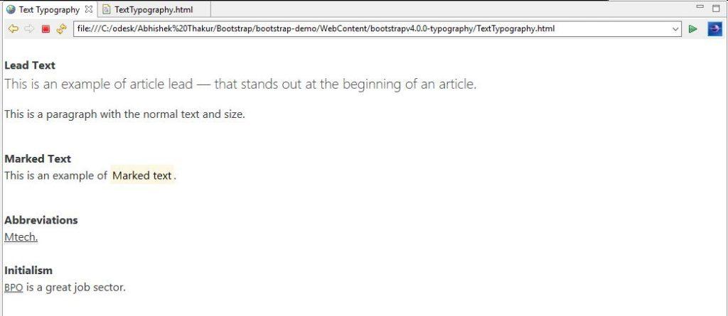 Text Typography