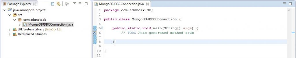 Code for JDBC Connection