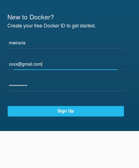 docker hub signup