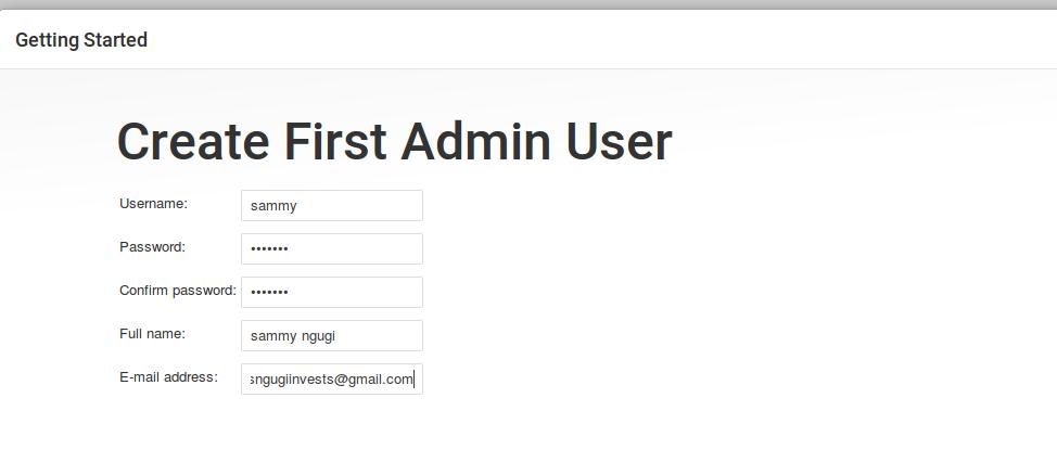 admin config