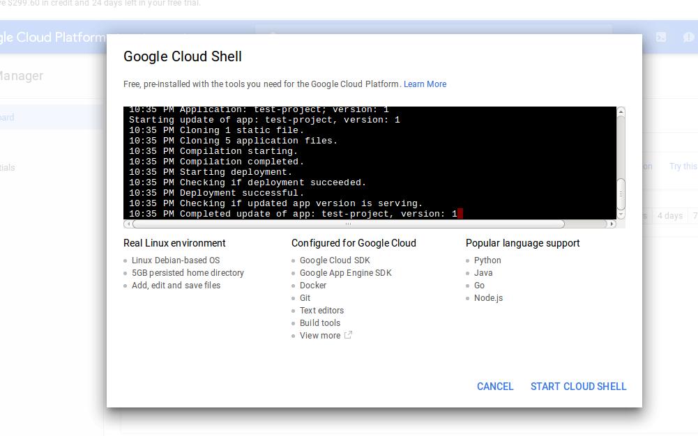 enable shell