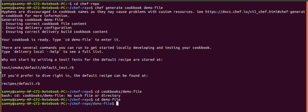 create cookbook