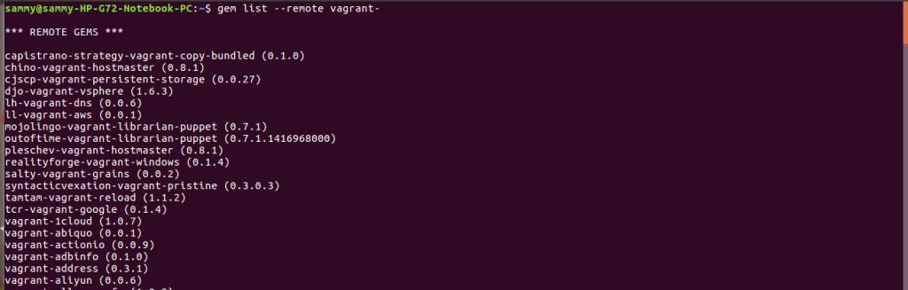 list plugins