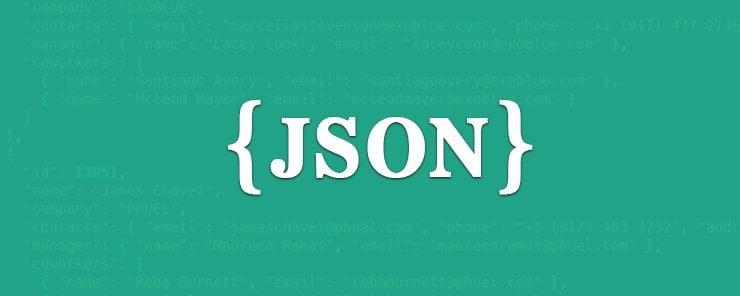 Use JSON