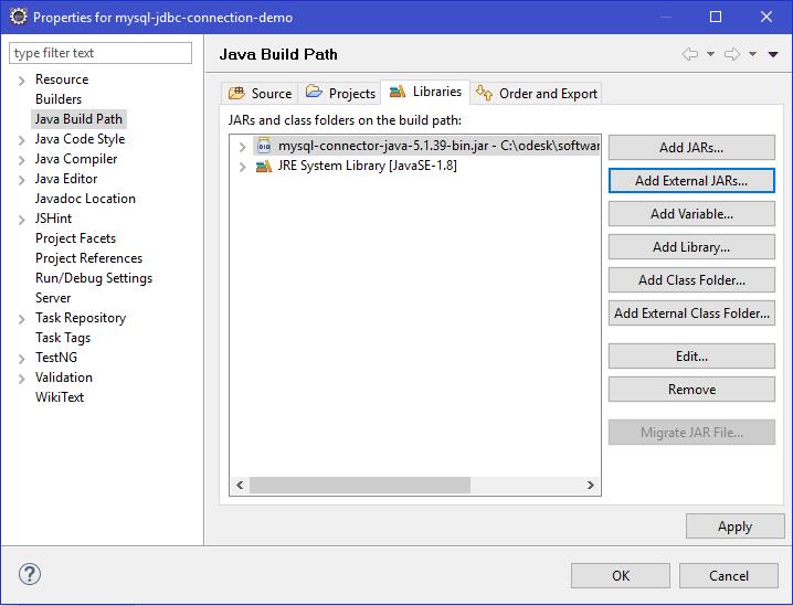 JDBC Configure Path3