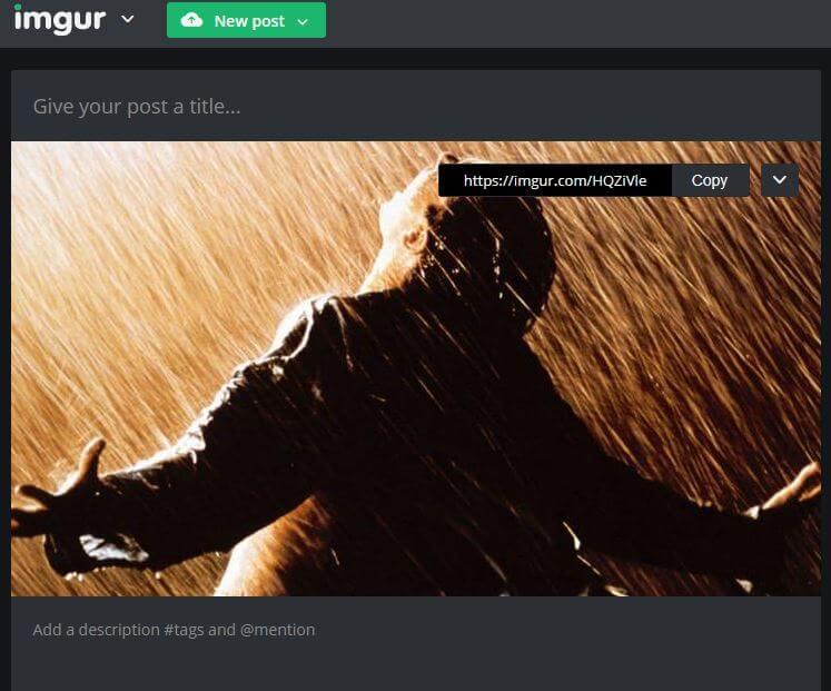 Imgur Uploading Option