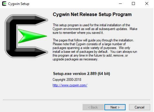 Cygwin Setup
