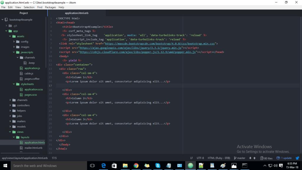 below code