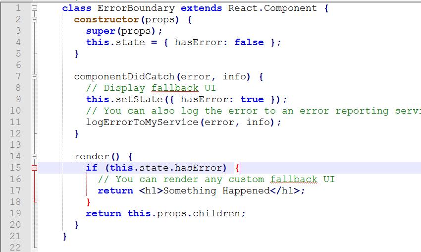 componentDidCatch