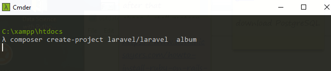 create laravel project