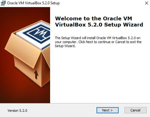 setup of virtualbox