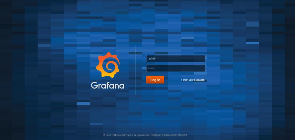 Grafana login page