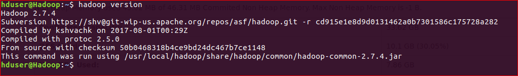 Hadoop Version