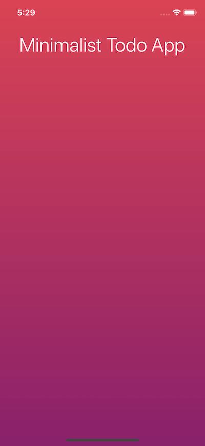 Minimalist Todo App