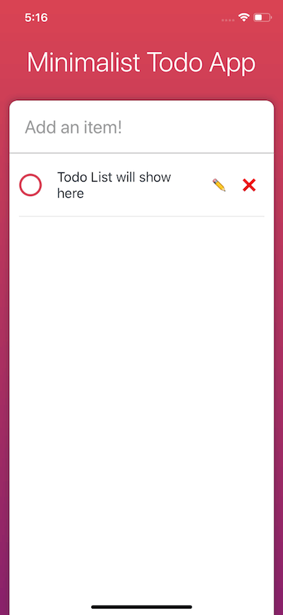 Todo List will show here