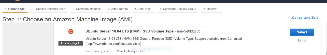 select Ubuntu AMI