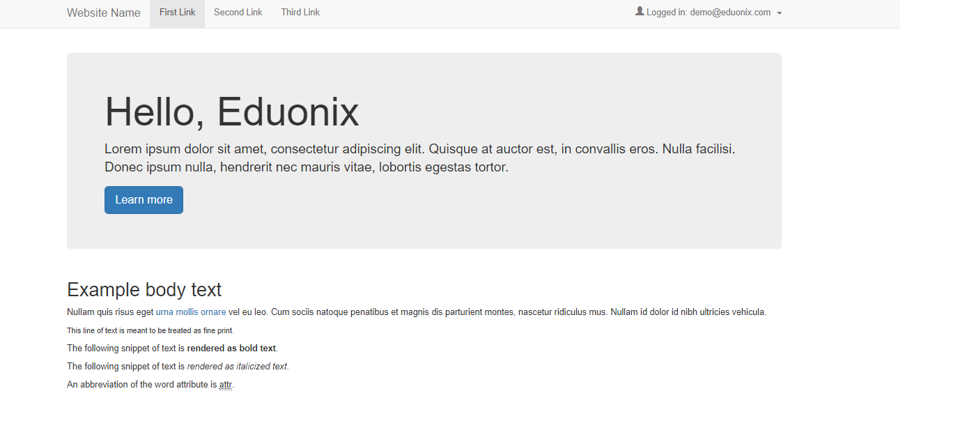 Hello demo eduonix com