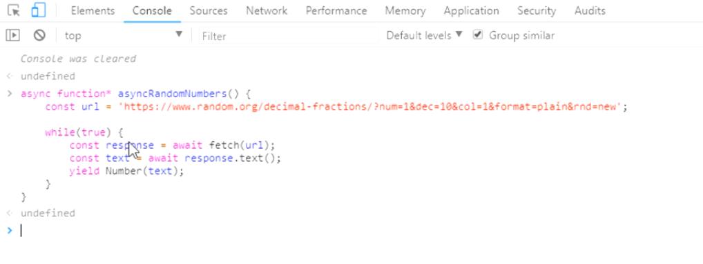 async iterator