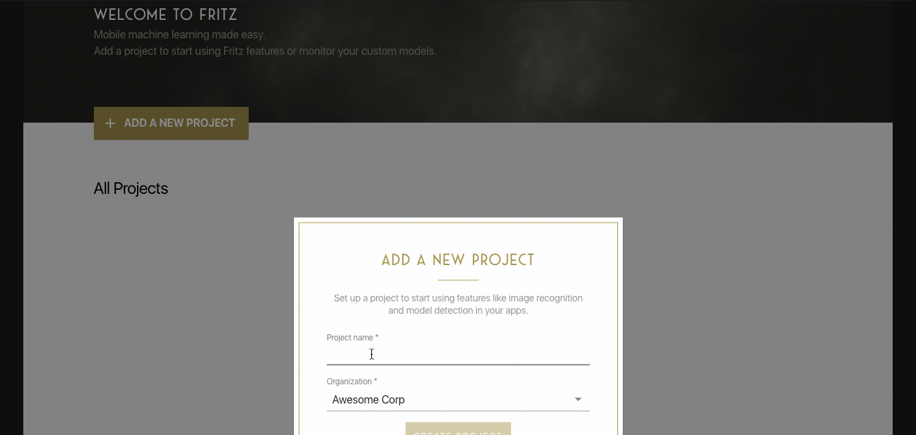 fritz_start_a_new_project
