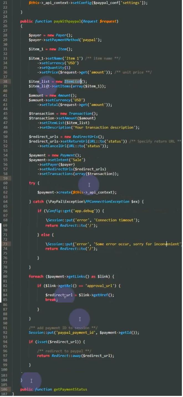 PayPal developer page
