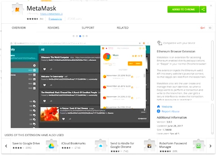 Installation of Metamask
