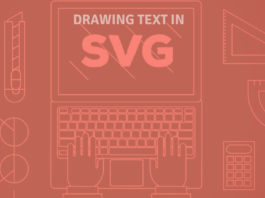 drawing text in SVG