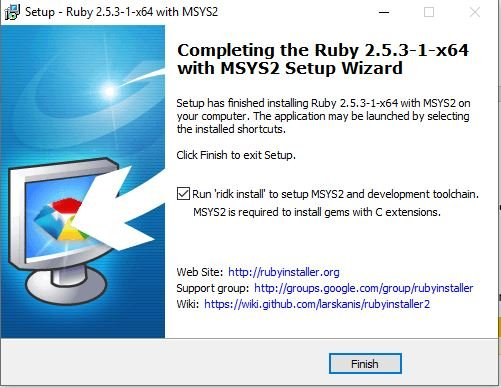 Ruby Setup Wizard