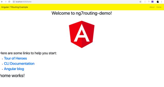 Angular 7 Routing