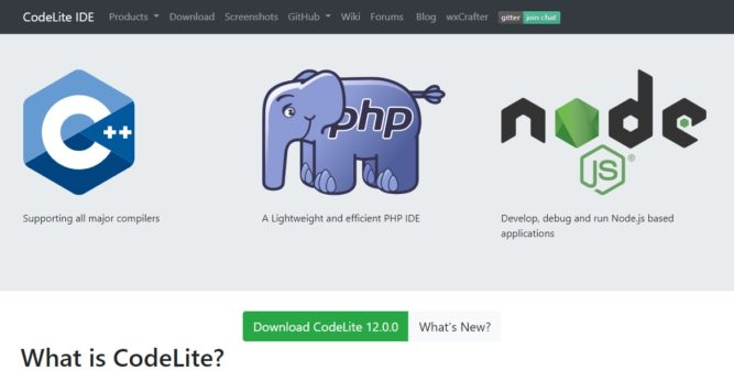 CodeLite IDE Homepage