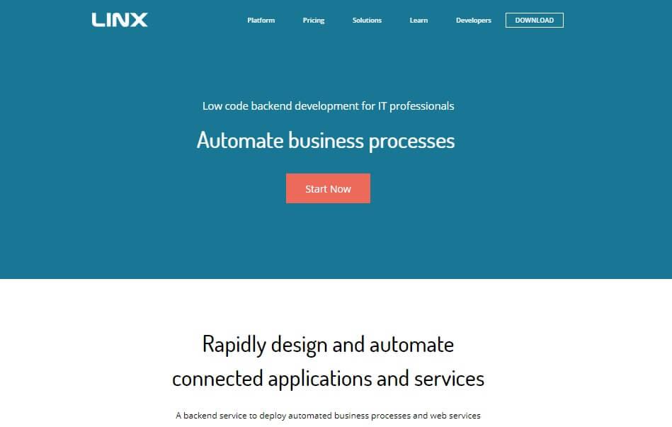 Linx-Home-Page-Screenshot