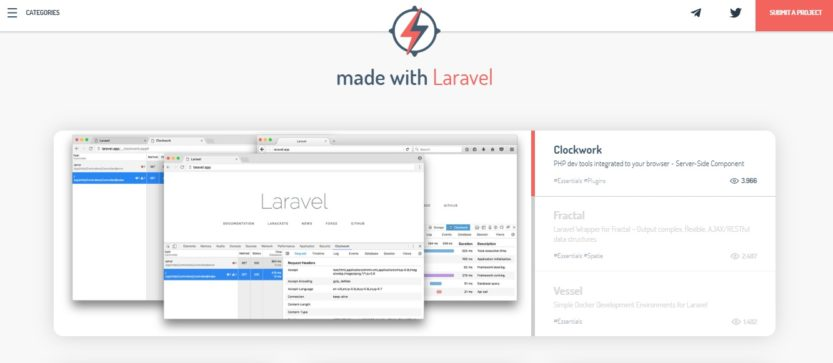 Made with Laravel