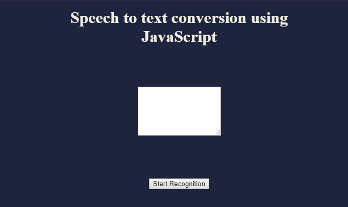 JS speech to text